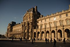 PARIS, FRANCE - OCTOBER 20, 2017: Louvre. Louvre is the world`s largest art museum and historic monument in Paris, France. stock photography