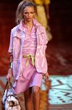 Model Natasha Poly walks runway fashion show of Valentino Ready-To-Wear collection
