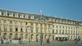 Ministry of Justice in Place Vendome in Paris, France stock photo