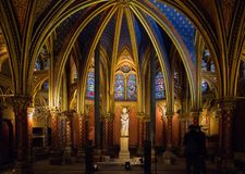 Sainte Chapelle in Paris, France royalty free stock photography