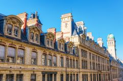 Historical university building of the Sorbonne in Paris, France Stock Photography