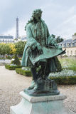 PARIS, FRANCE - OCTOBER 20: Statue of Jules Hardouin-Mansart, ar Royalty Free Stock Photography