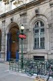 Paris, France - october 23th, 2013 - Metro Hôtel de Ville Royalty Free Stock Photo