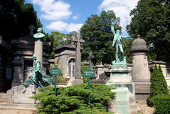 Paris, France: Père LaChaise Cemetery Tombs Royalty Free Stock Photography