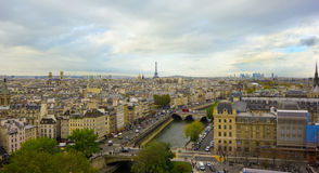 Paris, France, panoramic aerial view Stock Image