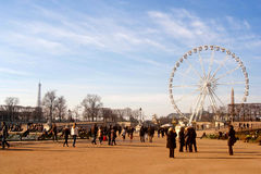 Paris. France park and gigant wheel stock images