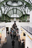 Paris, France, pessoa que visita o comtemporâneo anual foto de stock royalty free