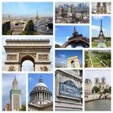 Paris, France. Paris photos collage - France capital city landmark postcard collection stock images