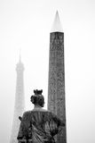 Paris, france. place de la concorde. Royalty Free Stock Photography