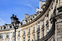 Paris, France : Place des Victoires. Ancient buildings ; low-angle shot Royalty Free Stock Image