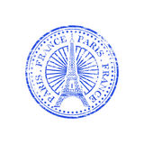 Paris France Rubber Stamp Royalty Free Stock Images