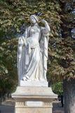 Sculptures of the Luxembourg garden. Paris, France. Sculptures of the Luxembourg garden and Palace (le Jardin du Luxembourg). Statues of French Queens. Paris stock photo
