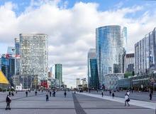 Cityscape La Defense Paris, France stock photography