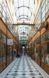 The Grand Cerf passage is one of the largest covered arcades in Paris. Royalty Free Stock Images