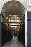 The Grand Cerf passage is one of the largest covered arcades in Paris. Royalty Free Stock Photography