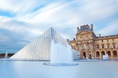PARIS, FRANCE - September 30, 2017. Louvre museum in Paris France royalty free stock image
