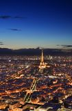 Night Paris from above. Royalty Free Stock Image