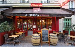 The rustic and quirky bistro Le Buisson Ardent located near Jussieu University in Paris, France.