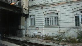 View of beside train station at Gare de Paris-Est or Paris Gare de l`est. PARIS, FRANCE - SEPTEMBER 7: View of beside train station at Gare de Paris-Est or Paris stock video footage
