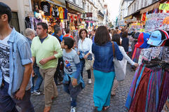Paris France Shopping Frenzy royalty free stock photography