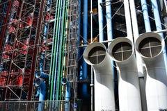 Paris france Sierpień 2018 Pompidou centrum obrazy stock