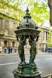 Paris, France - 24.04.2019: Statue on street Boulevard du Palais in Paris, France royalty free stock photography