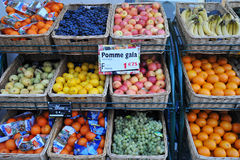 Paris, France, supermarket fruit Royalty Free Stock Images