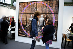 Paris, France, Teenagers Visiting Annual Contempor. Ary Arts Show, FIAC, in Grand Palais. Gilbert and George Photography, PS-52521 Royalty Free Stock Image