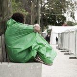 Paris - France - 6 th April 2014 - Marathon of Paris - woman tired Stock Images