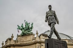 Paris France 30th April 2013 : Monument to French general and statesman Charles de Gaulle on th royalty free stock photo