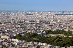 Paris, France top view on Notre Dame de Paris Stock Photography