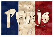 Paris France travel Logo art sign grunge vintage Parisian landmark. Paris France Parisian logo grunge artwork for travel vacation landmarks tourism tours and stock illustration