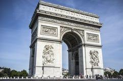 Paris,France. Triumphal arch, arc de triomphe, famous monument, Paris Royalty Free Stock Photo