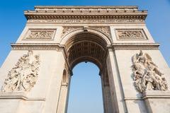 Paris - France - Triumphal Arch Stock Photos