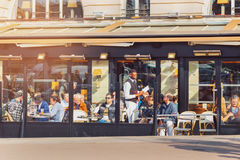 Paris, France. Typical cafe with terrace in the old town. Royalty Free Stock Photo