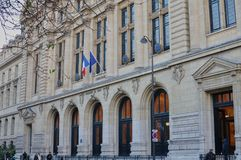 Paris, France - 02/10/2015: University of Paris, Sorbonne royalty free stock images