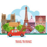 Paris,France Vector travel destinations set, Info graphic elements for traveling to France.Paris,France Vector travel destinations Stock Image