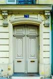 Paris, France - vieil immeuble type Trappe en bois Photo libre de droits