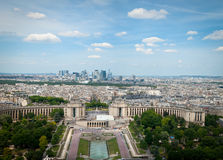 Paris, France. View on Paris ,  the Champ de Mars gardens and the Trocadero Stock Photography