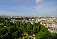 Paris france view from eiffel tower Stock Photography