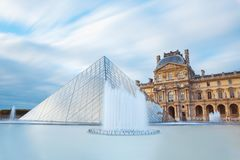 Louvre museum in Paris France stock photo