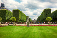 PARIS, FRANCE, View on famous Luxembourg Gardens royalty free stock photo