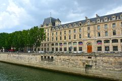PARIS, FRANCE - 25.05.2018:View of the Hotel-Dieu building. Is the oldest hospital in the city of Paris. It was the only hospital in Paris until the royalty free stock photos