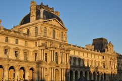 Paris, France - 02/08/2015: View of the Louvre museum royalty free stock photo