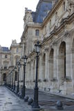 PARIS, FRANCE View of Louvre Museum. PARIS, FRANCE View  of Louvre Museum. Louvre Museum is one of the largest and most visited museums worldwide Stock Photo