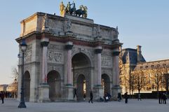 Paris, France - 02/08/2015: View of the Louvre museum stock image