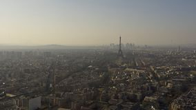 PARIS FRANCE, View of Paris skyline with the Eiffel tower Royalty Free Stock Image
