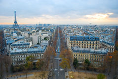 Paris, France, viewed from the Arc de Triomphe Stock Image