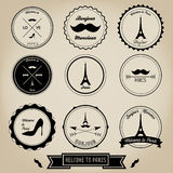 Paris France Vintage Label Stock Photography