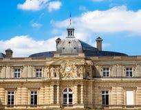PARIS, FRANCE, vue sur le palais du luxembourgeois Photographie stock